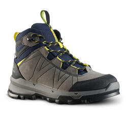 WATERPROOF MOUNTAIN HIKING SHOES - MH500 BLUE/YELLOW - KIDS - SIZE 28 TO 39