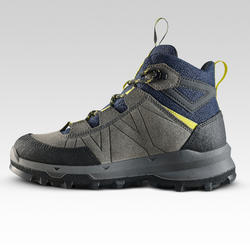 Chaussures haute de randonnée montagne enfant MH500 imperméable Bleu Gris 28-39