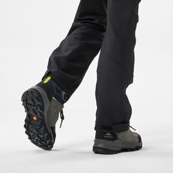 Chaussures de randonnée montagne enfant MH500 imperméable Bleu Gris 28-39