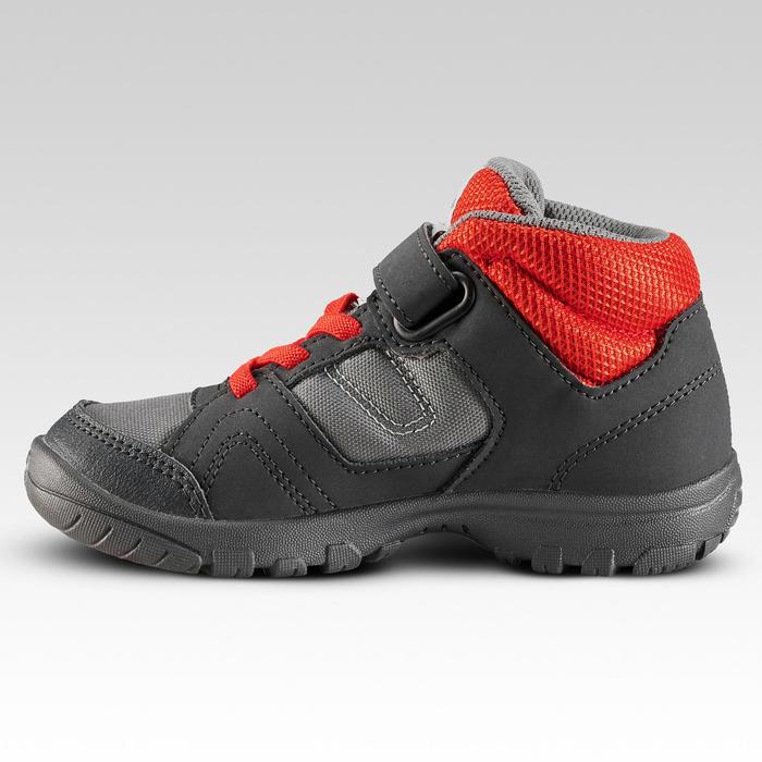 Chaussures de randonnée enfant montantes MH100 MID KID grises/rouges 24 AU 34