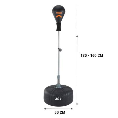 Adjustable Adult Punching Ball - Black
