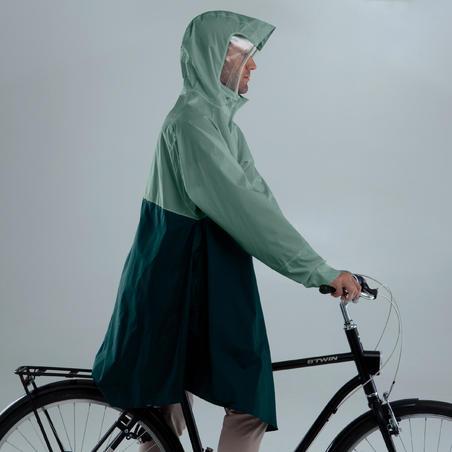 Cycling Rain Poncho 900 - Green/Turquoise