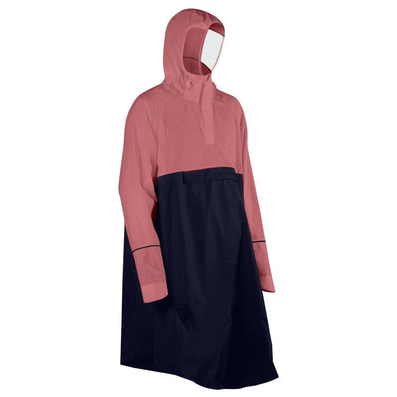 """Dviratininko pončas nuo lietaus """"900"""", tamsiai mėlynas / rožinis"""