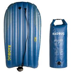 Prancha de Bodyboard 100 insuflável azul inovação