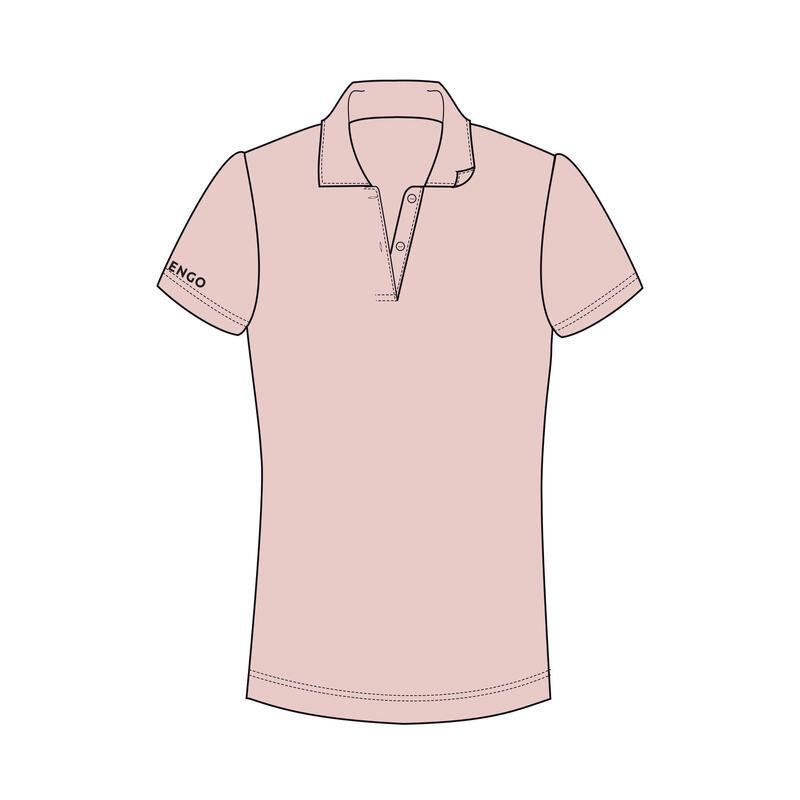 女款Polo衫Dry 100 - 淡粉色