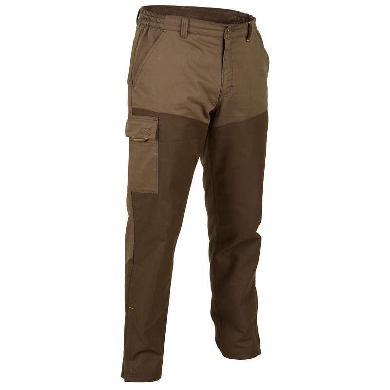 ÎMBRĂCĂMINTE ÎNTĂRITĂ VÂNĂTOARE Imbracaminte - Pantalon 100 Vânătoare Maro SOLOGNAC - Pantaloni