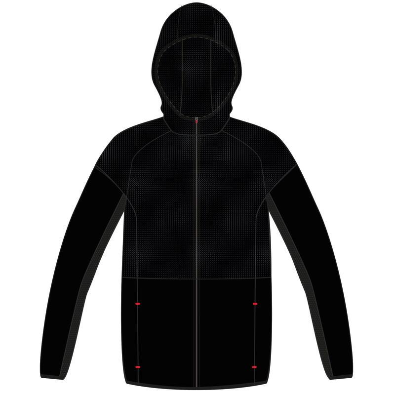 Veste ultra light, compacte, respirante, W500 garçon GYM ENFANT noire imprimée