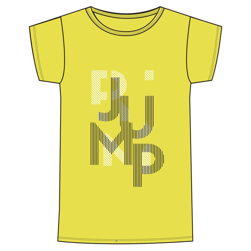 ОДЕЖДА ДЛЯ МАЛЬЧИКОВ Физкультура - Футболка 100 GYM дет.желтая DOMYOS - Одежда для мальчиков