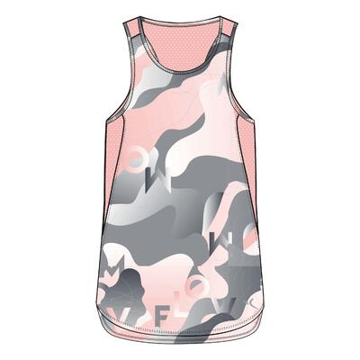 Camiseta sin mangas sintética transpirable S500 niños GIMNASIA INFANTIL rosa est
