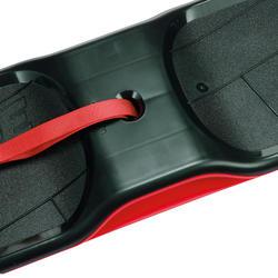 Snow skate boardslide noir rouge