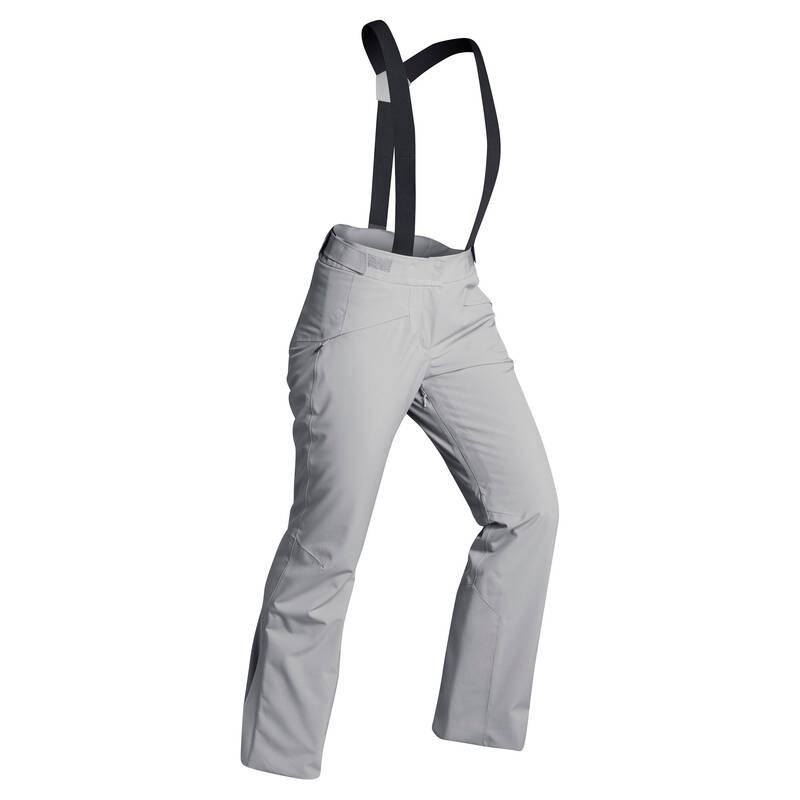 DÁMSKÉ OBLEČENÍ NA LYŽOVÁNÍ (POKROČILÉ) Lyžování - LYŽAŘSKÉ KALHOTY 580 ŠEDÉ  WEDZE - Lyžařské oblečení a doplňky