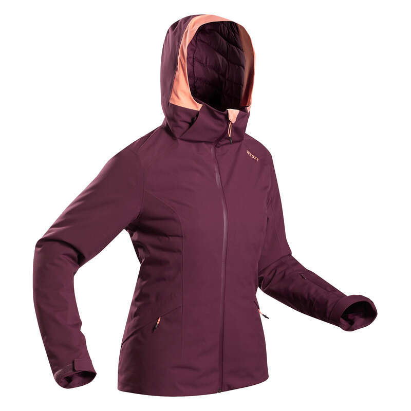 Skijacke 500 Damen bordeaux