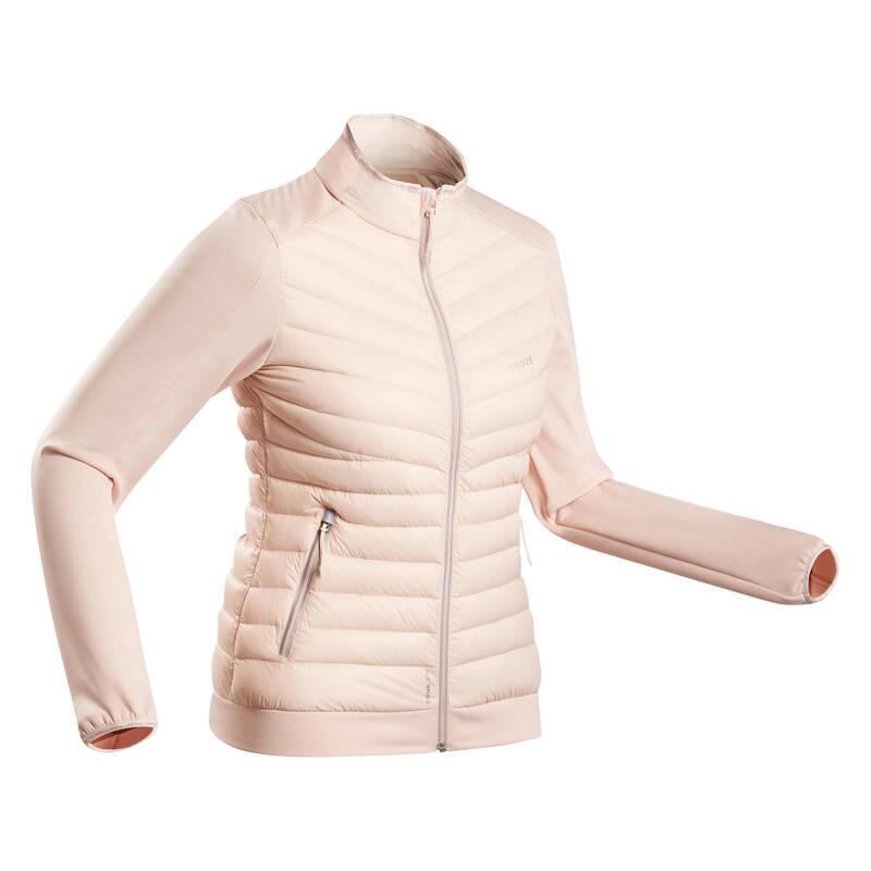 DÁMSKÁ PRVNÍ A DRUHÁ VRSTVA NA LYŽOVÁNÍ Lyžování - SPODNÍ BUNDA 900 RŮŽOVÁ  WEDZE - Lyžařské oblečení a doplňky
