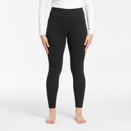 Women's Ski Base Layer Bottoms 500 - Black