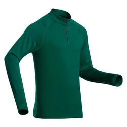 Sous-vêtement de ski homme 500 1/2 zip haut vert