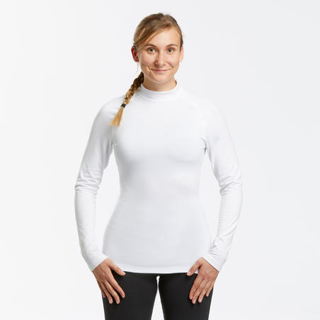Women's Ski Base Layer Top 500 - white