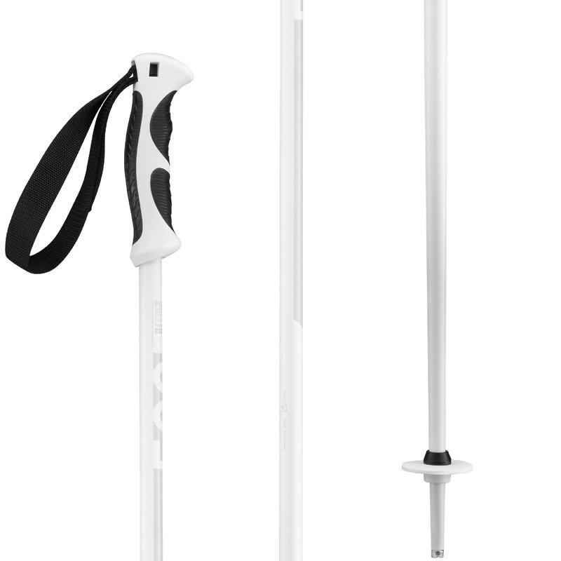 Bastones esquí, wedze BOOST 500 GRIP, blanco