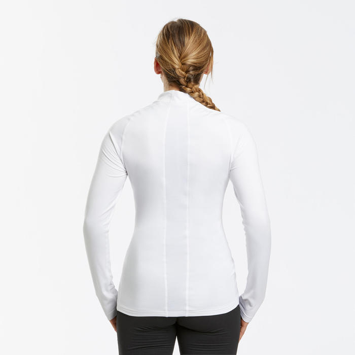 Thermoshirt voor skiën dames 500 wit