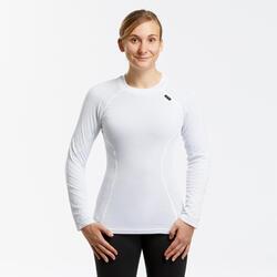 Sous-vêtement de ski femme 100 haut blanc