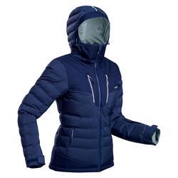 Skijacke Daunenjacke Piste Warm 900 Damen marineblau