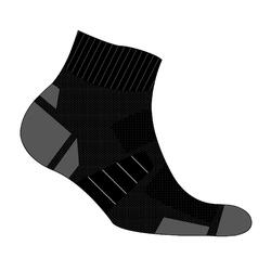 ECO-DESIGN RUN900 MID FINE RUNNING SOCKS - BLACK
