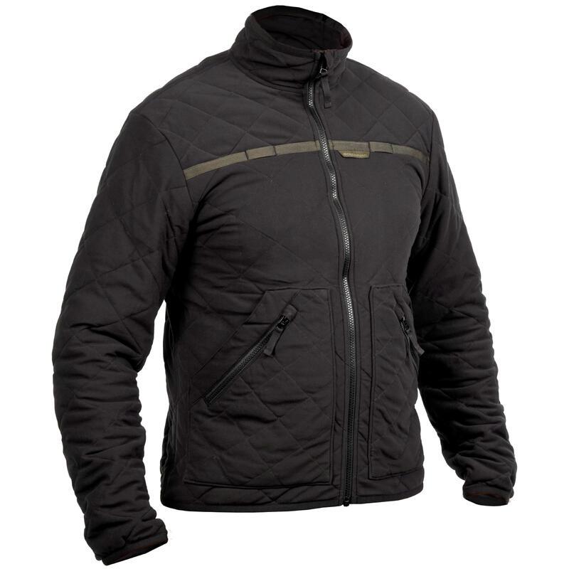 Prošívaná bunda nešustivá 500 černá