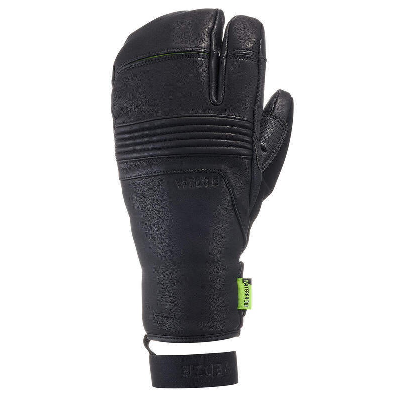 GANTS DE SKI DE PISTE ADULTE LOBSTER 900 NOIRS
