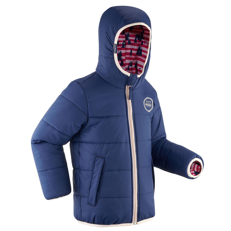 100 Reversible Downhill Warm Ski Jacket - Kids