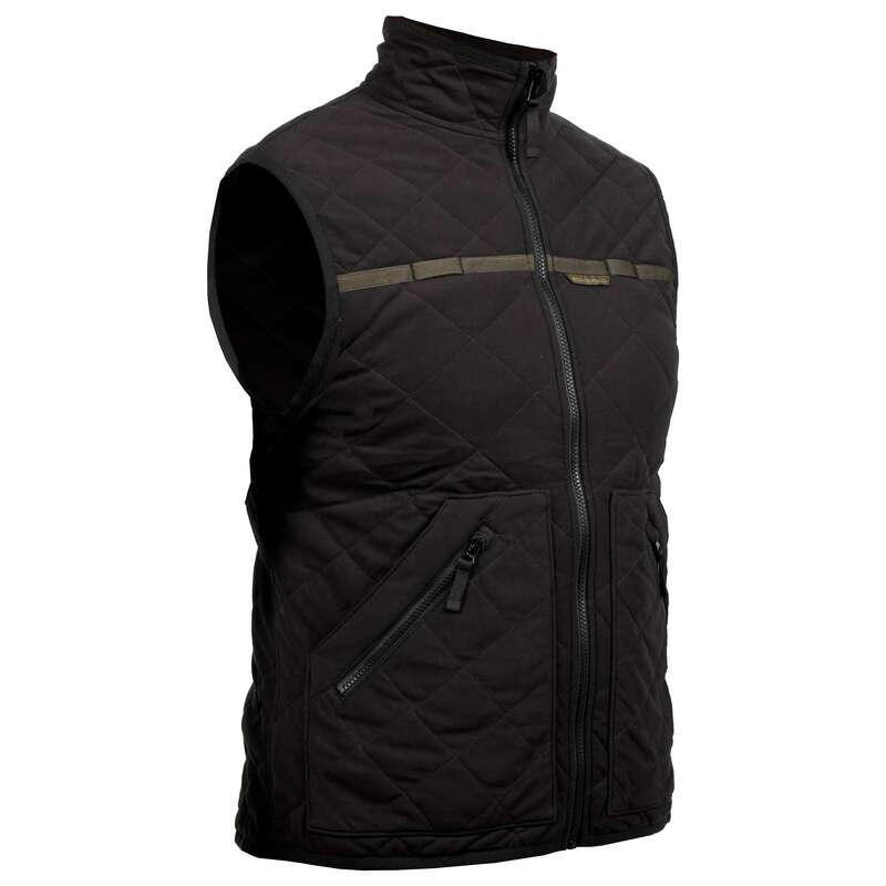 POLARE/ GECI MATLASATE VANATOARE Imbracaminte - Vestă Matlasată 500 negru SOLOGNAC - Imbracaminte
