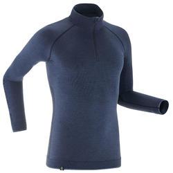 Langlaufunterwäsche Funktionsshirt Merinowolle XC UW S 500 Herren blau