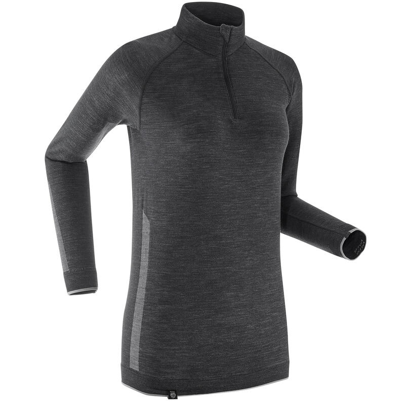 Women's Long-sleeved Merino Wool High-tech T-shirt XC S UW 500