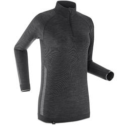 Tee-shirt technique manches longues en laine de Merinos - XC UW S 500 - FEMME