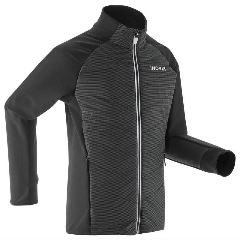DĚTSKÉ BĚŽECKÉ LYŽE Běžecké lyžování - BUNDA NA BĚŽKY 550 ČERNÁ INOVIK - Oblečení na běžky