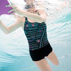 Maillot de bain de natation femme une pièce Heva shorty all AFI noir