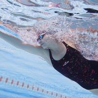 """Sieviešu viendaļīgs peldkostīms """"Kamiye"""", hlora izturīgs, melns"""