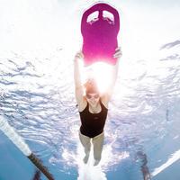 Traje de baño Mujer Natación  Nabaiji Sujección Resistente  Cloro  Heva  Negro