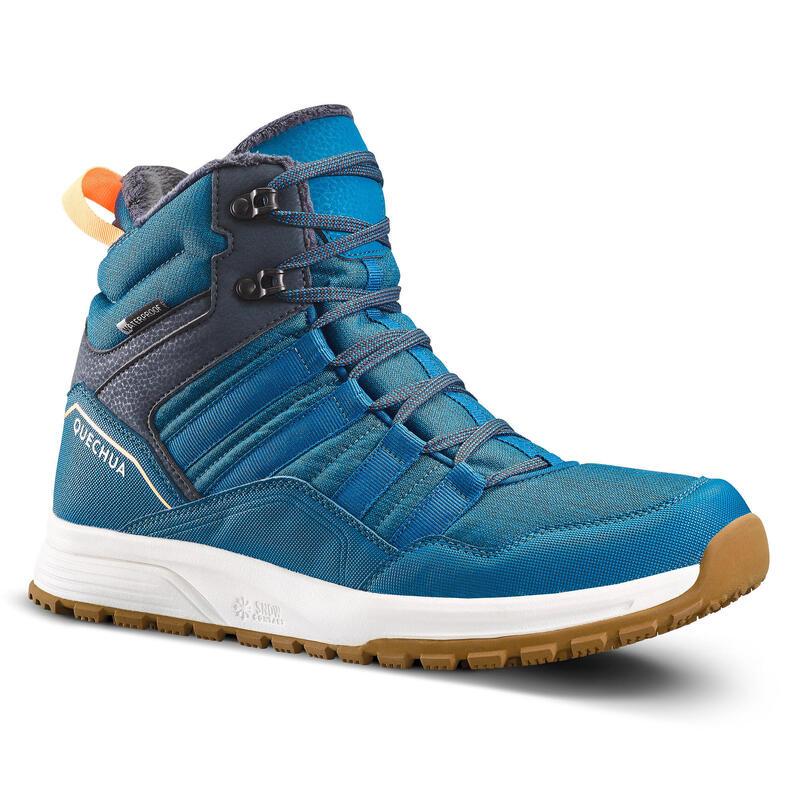 Botas Nieve y Apreski Impermeables Montaña Hombre Quechua SH100 X-Warm Azul