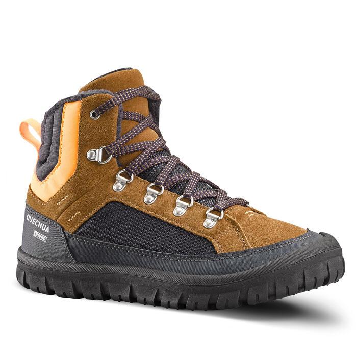 Winterschuhe Winterwandern SH500 warm wasserdicht Schnürsenkel Kinder Gr.33–38