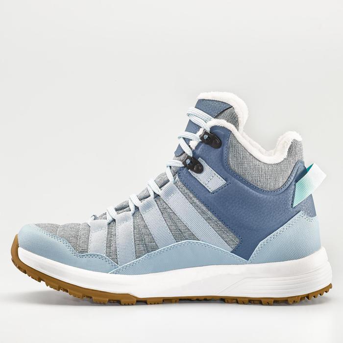 Warme waterdichte damesschoenen voor sneeuwwandelen SH100 X-warm halfhoog