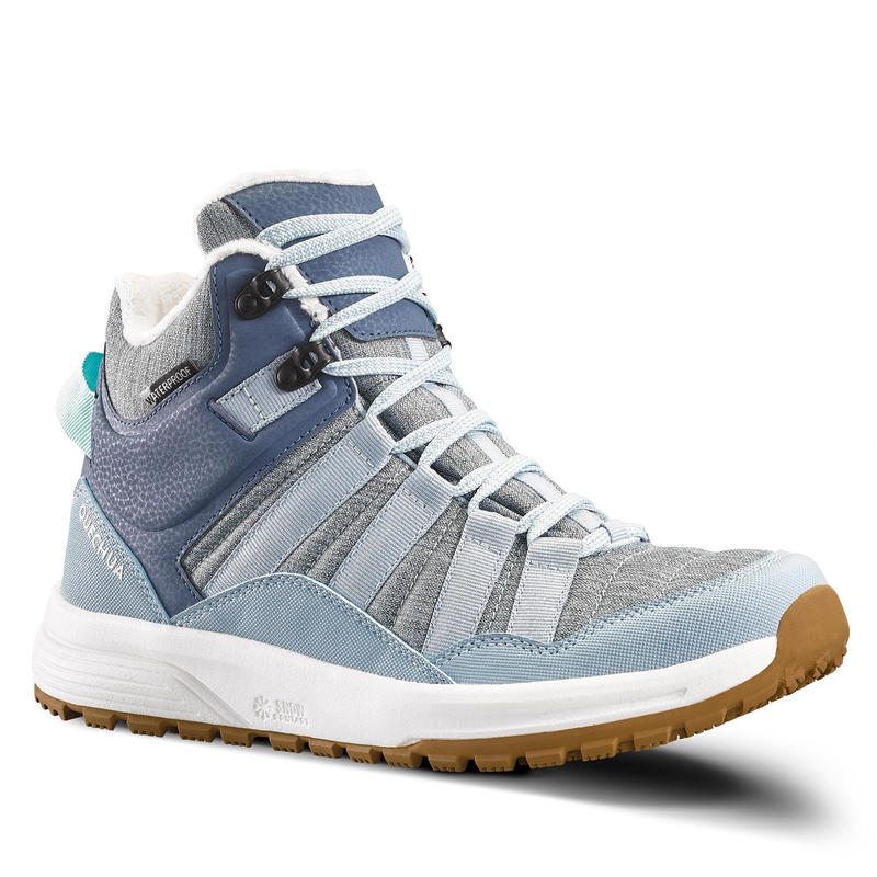 Women's warm waterproof snow hiking shoes - SH100 X-WARM - Mid