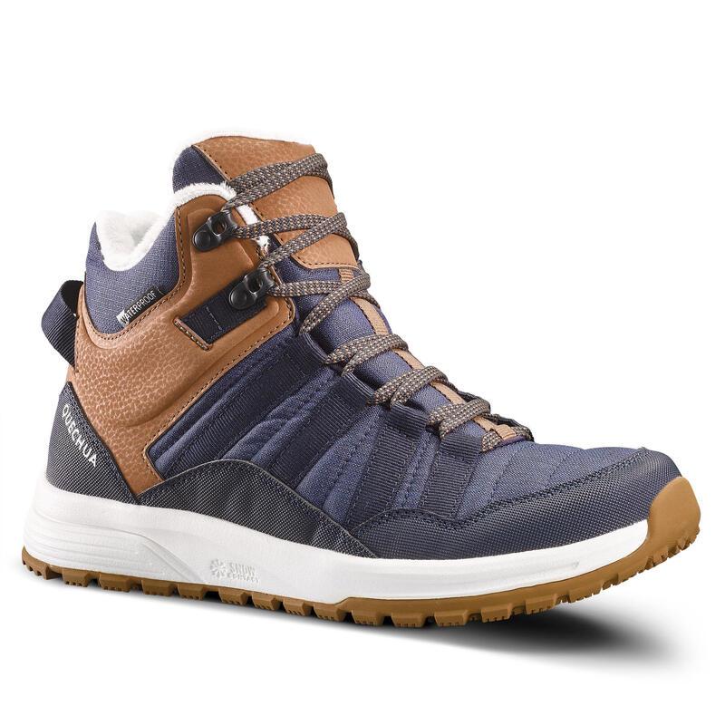Chaussures chaudes et imperméables de randonnée - SH100 X-WARM - Mid Femme