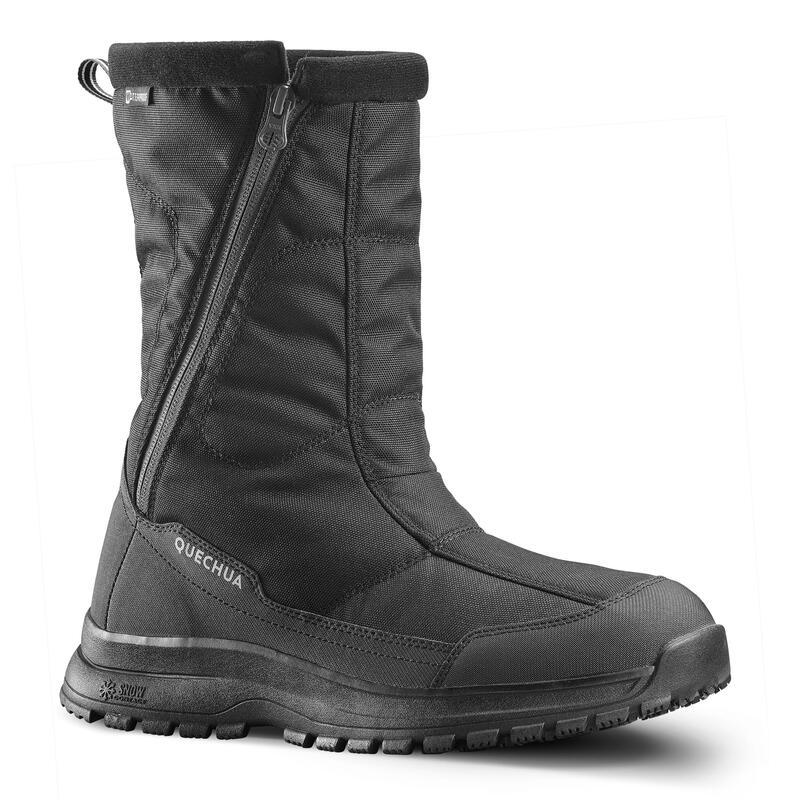 Botas de Nieve y Apreski Impermeables Hombre Quechua SH100 U-Warm Negro Altas