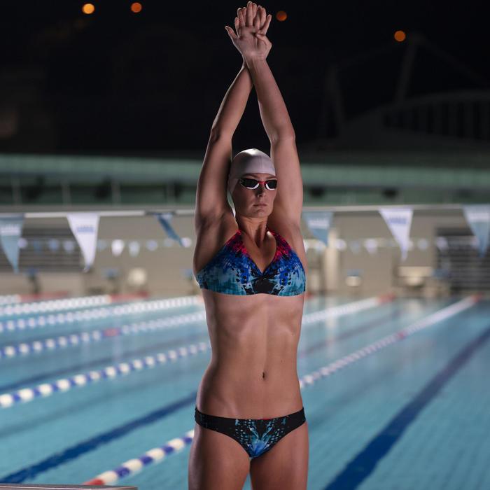 Bas de maillot de bain de natation femme Jana leo bleu et noir