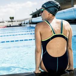 Maillot de bain de natation une pièce femme Kamiye+ marine vert
