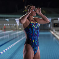 Women's one-piece swimsuit Lexa kal blue