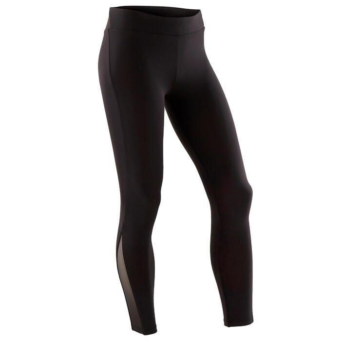 Legging de Gymnastique Artistique Féminine 500 noir sequins