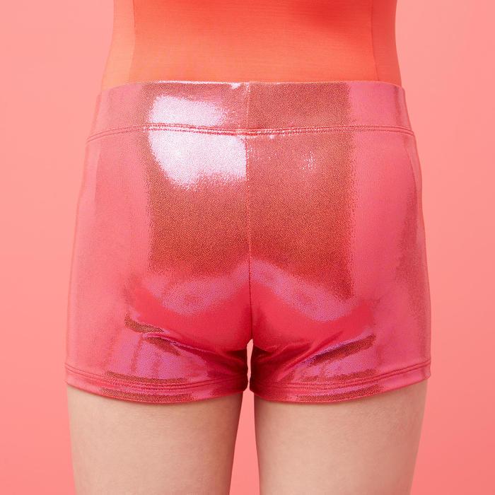 Turnshort voor dames 500 glanzend roze