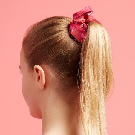 Girls' Artistic Gymnastics Scrunchie - Pink Glitter