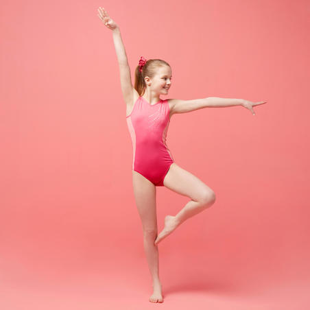 500 Artistic Gymnastics Sleeveless Leotard – Girls