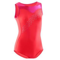 Justaucorps sans manche rose 540 Gymnastique Artistique Féminine